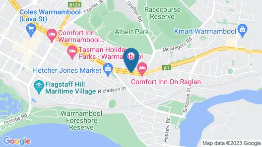 Blue Whale Motor Inn & Apartments Map