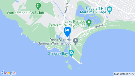 Warrnambool Beach Backpackers Map