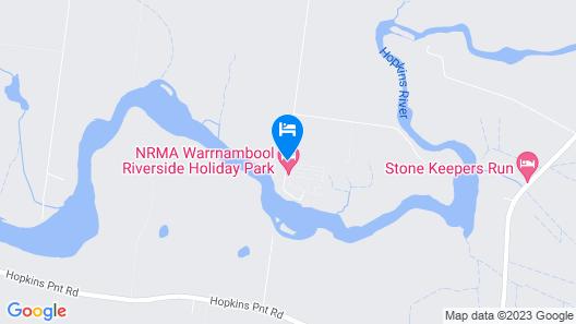 BIG 4 NRMA Warrnambool Riverside Holiday Park  Map
