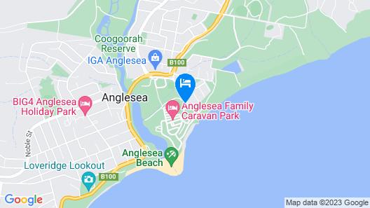 Anglesea Family Caravan Park Map