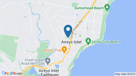 Aireys Inlet Holiday Park Map