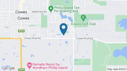 Phillip Island family house Map