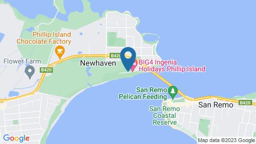 BIG4 Phillip Island Caravan Park Map