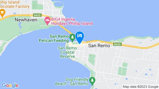 San Remo Hotel Motel Map
