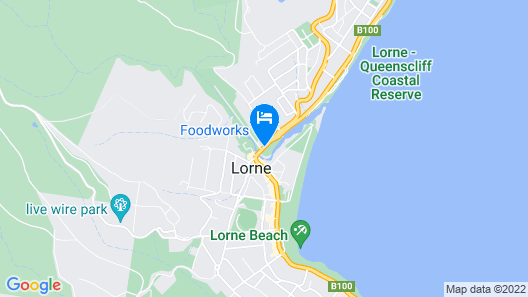 Lorne Foreshore Caravan Park Map