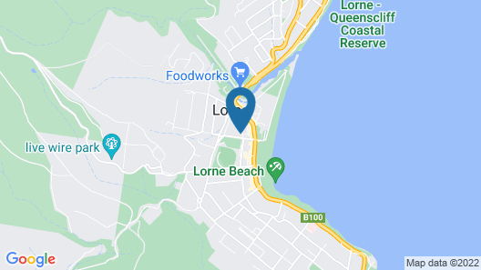 Lorne Ocean Sun Apartments Map