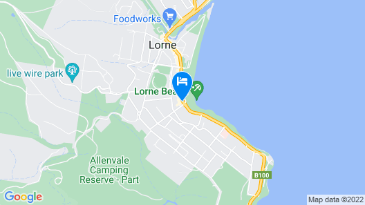 Cumberland Lorne Resort Map