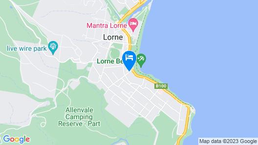Lorne Bay View Motel Map