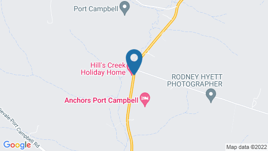 Hill's Creek Holiday Home Map