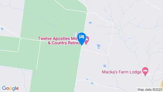 Twelve Apostles Motel & Country Retreat Map