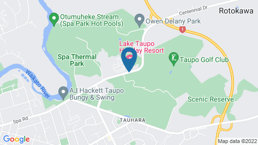 Lake Taupo Holiday Resort Map