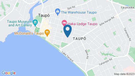 Mountain View Motel, Taupo Map