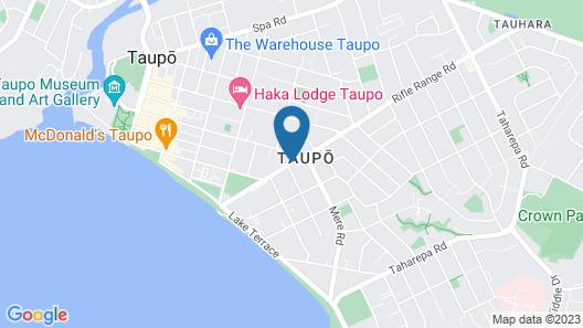 Ascot Motor Inn Taupo Map