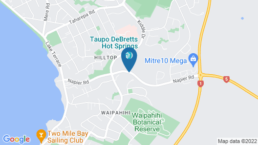 Taupo DeBretts Spa Resort Map