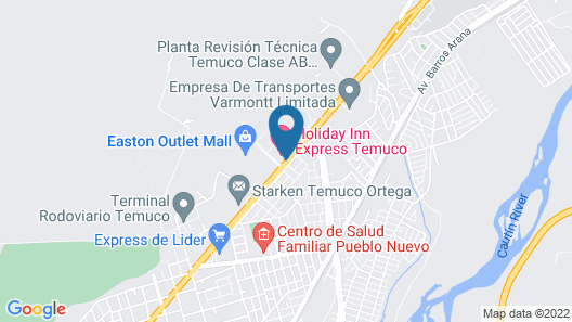 Holiday Inn Express Temuco Map