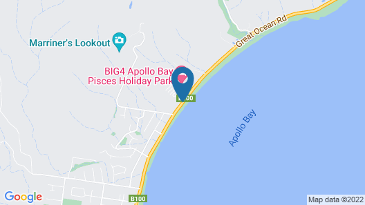 BIG4 Apollo Bay Pisces Holiday Park Map