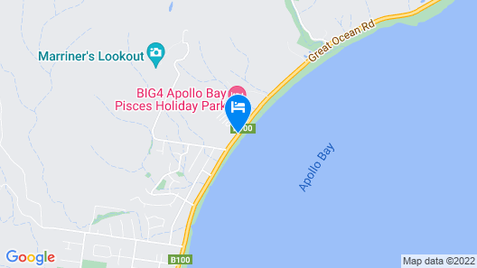 BIG4 Apollo Bay Pisces Holiday Park Map