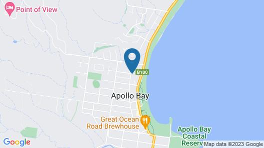 Sandpiper Motel Apollo Bay Map