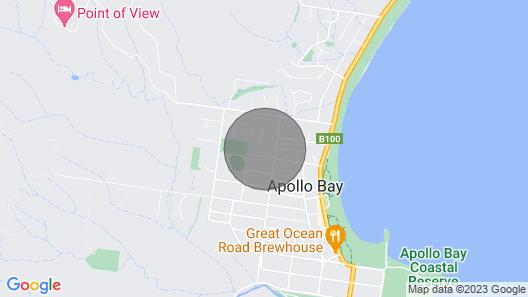Beach Shack - At Apollo Bay Map