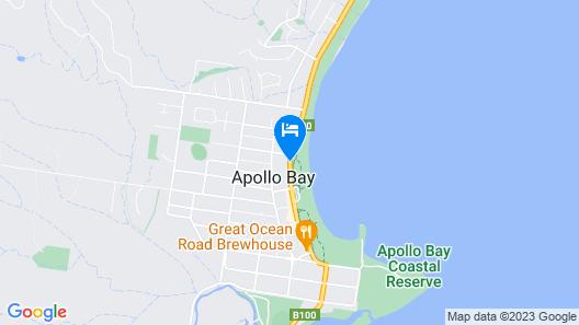 Apollo Bay Waterfront Motor Inn Map