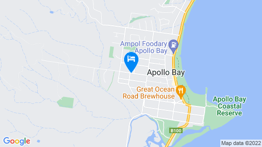 Apollo Bay Backpackers Map