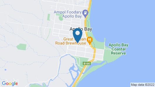 Beachcomber Motel And Apartments Apollo Bay Map