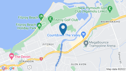 New Plymouth Top 10 Holiday Park Map