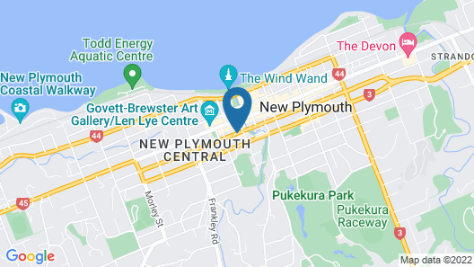 Distinction New Plymouth Hotel & Conference Centre Map
