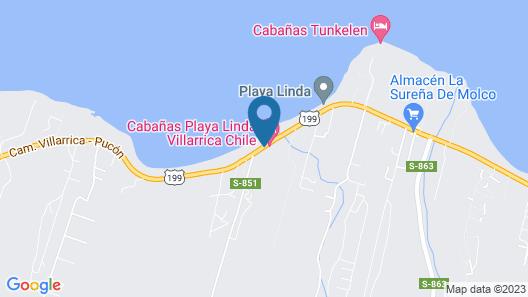 Cabañas Playa Linda Map