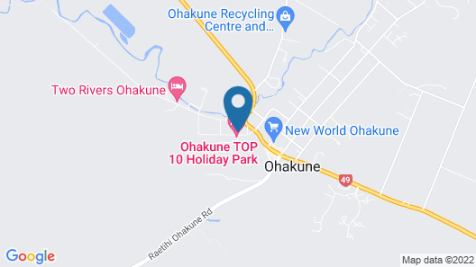The Ohakune Central Backpackers & Cabins Map