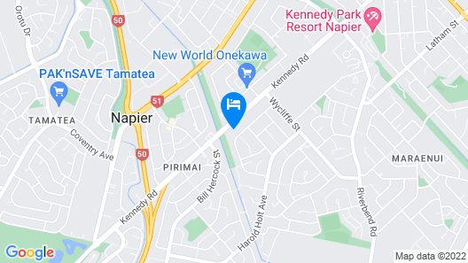 Pania Lodge Motel Map