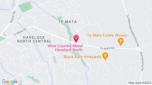 Wine Country Motel Havelock North Map