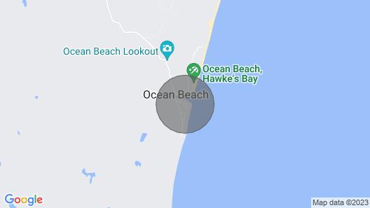 Waipuka - Ocean Beach Holiday Home Map