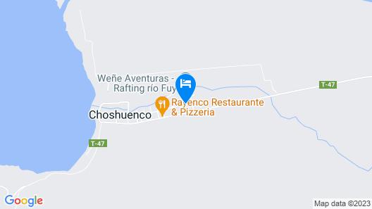 Cabañas Choshuenco Map