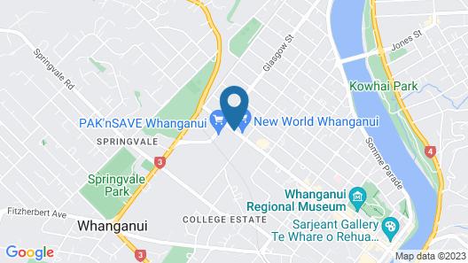 Kingsgate Hotel The Avenue Wanganui Map