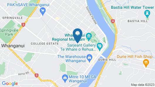 Grand Hotel Wanganui Map