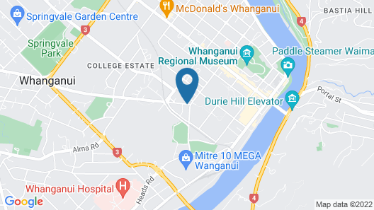 Asure Cooks Gardens Motor Lodge Map