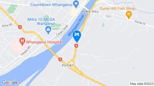 Te Awa Motel Map
