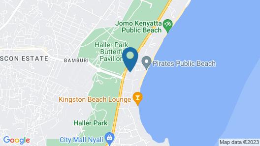 Milele Beach Resort Map