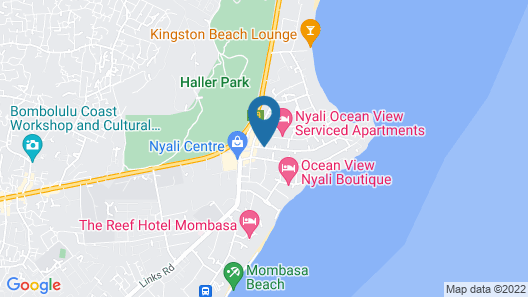PrideInn Hotel Nyali Map