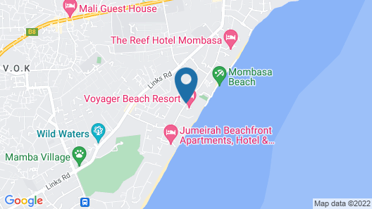 Voyager Beach Resort Map