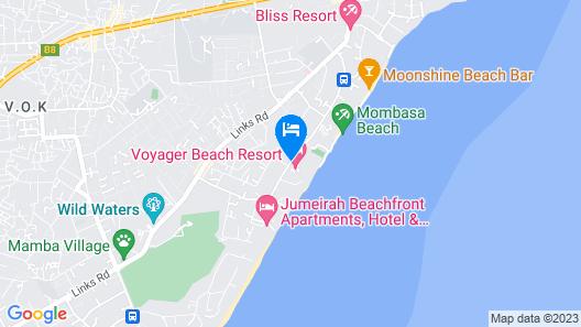 Voyager Beach Resort Map