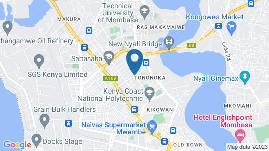 STADIUM HOLIDAY INN MOMBASA Map