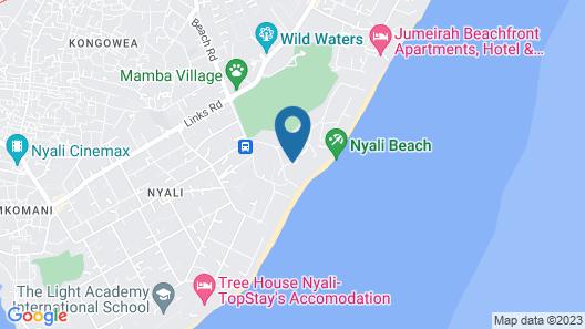 Nyali Sun Africa Beach Hotel & Spa Map