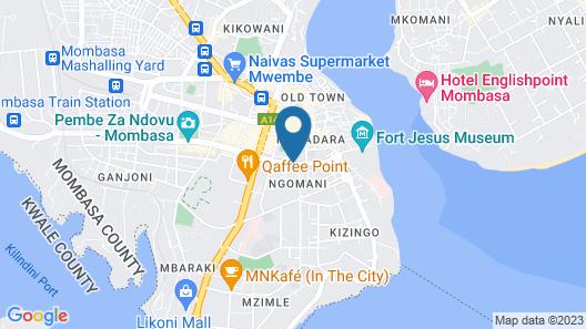 New Palm Tree Hotel Map
