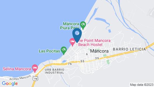 Punta Pacifico Bungalows Mancora Map