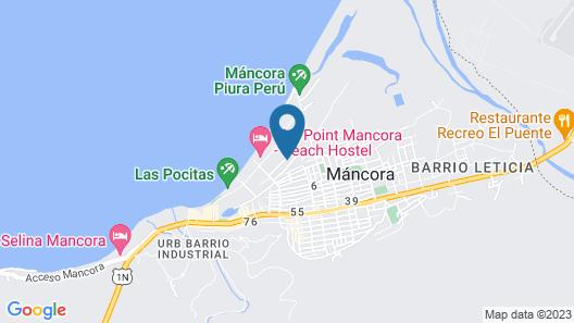 Guacamayo Bed & Breakfast Map