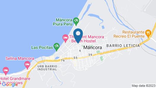 Private Apartment in Tiki Style Condominium With Pools Near Mancora Beach Map
