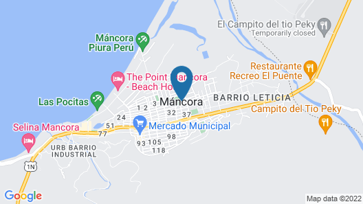 Kon Tiki Bungalows Mancora Map