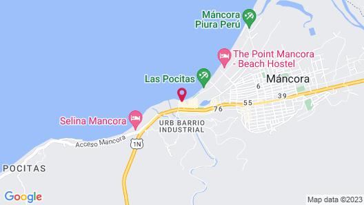 HOTEL DEL WAWA BEACH FRONT Map